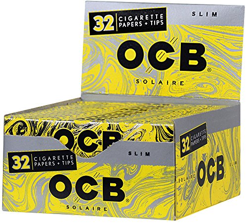 - 24pc Display - OCB® Solaire Slim Rolling Papers & Tips