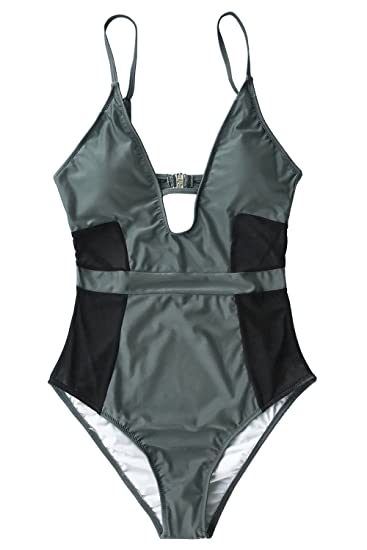 80f7e909b29 Image Unavailable. Image not available for. Color: CUPSHE Women's AAbsolut  Lust Mesh One-Piece Swimsuit Beach Swimwear Bathing Suit