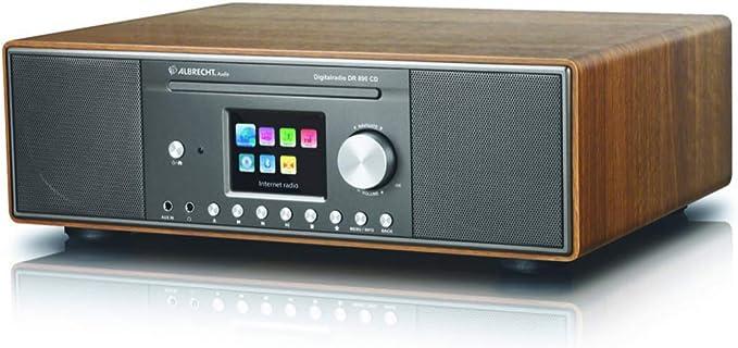 Albrecht Dr 890 Cd 27389 02 Compact System Internet Radio Digital Radio Wifi Dab Fm With Rds Bluetooth Aux Cd Player Usb Colour Display 2 X 15 W Rms Colour Walnut Home Cinema Tv Video
