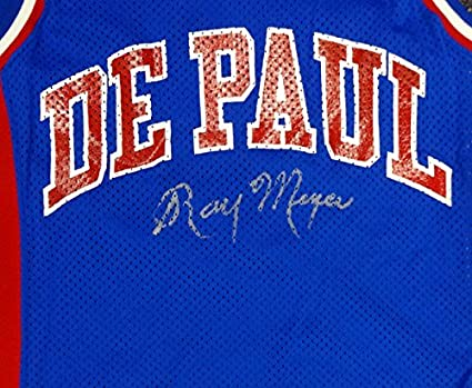 more photos 88300 d2273 Ray Meyer Autographed DePaul Blue Demons Jersey PSA/DNA ...