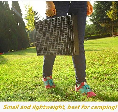 RUGU Folding Barbecue Grill Barbecue Portable Charbon Grils Trames Outils pour Camping en Plein air Cuisine Pique-Nique Randonnée Utilisation