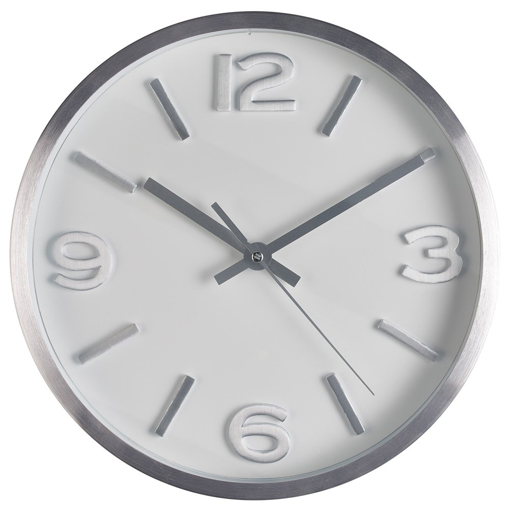 Amazon bernhard products wall clock 10 inch modern silver amazon bernhard products wall clock 10 inch modern silver round elegant metal quality quartz silent non ticking battery operated home office clock amipublicfo Gallery