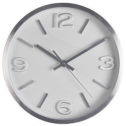 nice looking modern wall clocks amazon. Bernhard Products  Wall Clock 10 Inch Modern Silver Round Elegant Metal Quality Quartz Silent Amazon com
