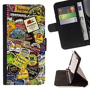 Momo Phone Case / Flip Funda de Cuero Case Cover - Producto Dise?o Etiquetas colorido Arte Moderno - Samsung Galaxy Core Prime