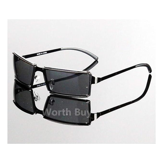 Amazon.com: Gafas de sol rectangulares para hombre y mujer ...