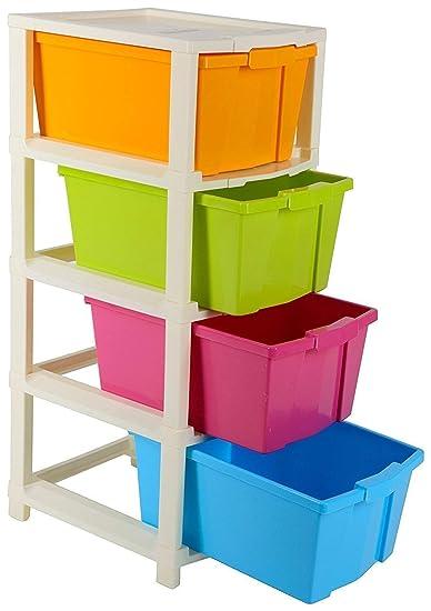 Joyful Studio 4 XL Plastic Modular Drawer System, Multi Colour  (31cmx39cmx80.9 cm) (Multi, studio4XL): Amazon.in: Home & Kitchen