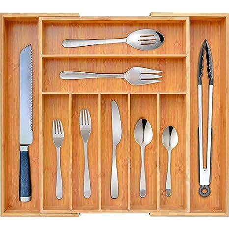 Queta Organizador de utensilios de cocina de bambú ...