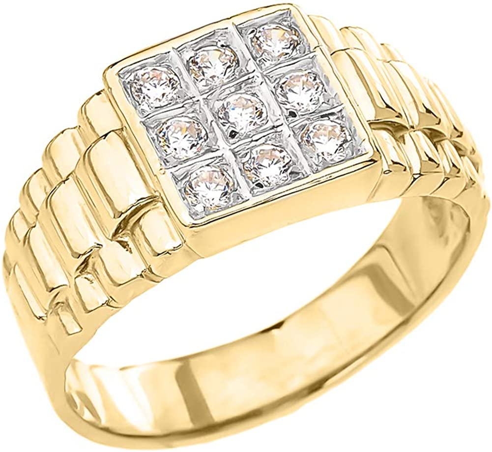 Modern 10k Yellow Gold Watchband Unisex Wedding Band