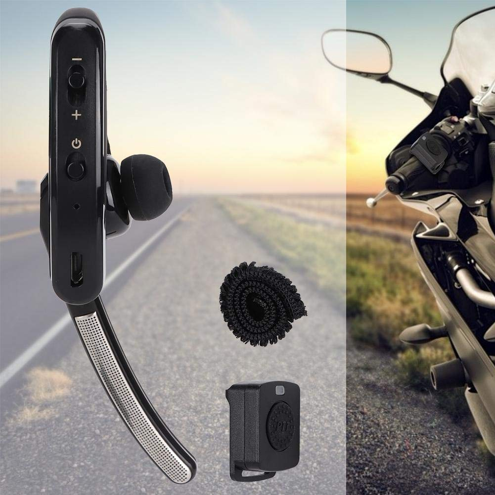 Ciglow Bluetooth Earpiece, Portable K-Head Wireless Bluetooth 4.0 Headset Earpiece with PTT Microphone Interphone Bluetooth Headset for All K-Plug Walkie Talkie by Ciglow (Image #4)