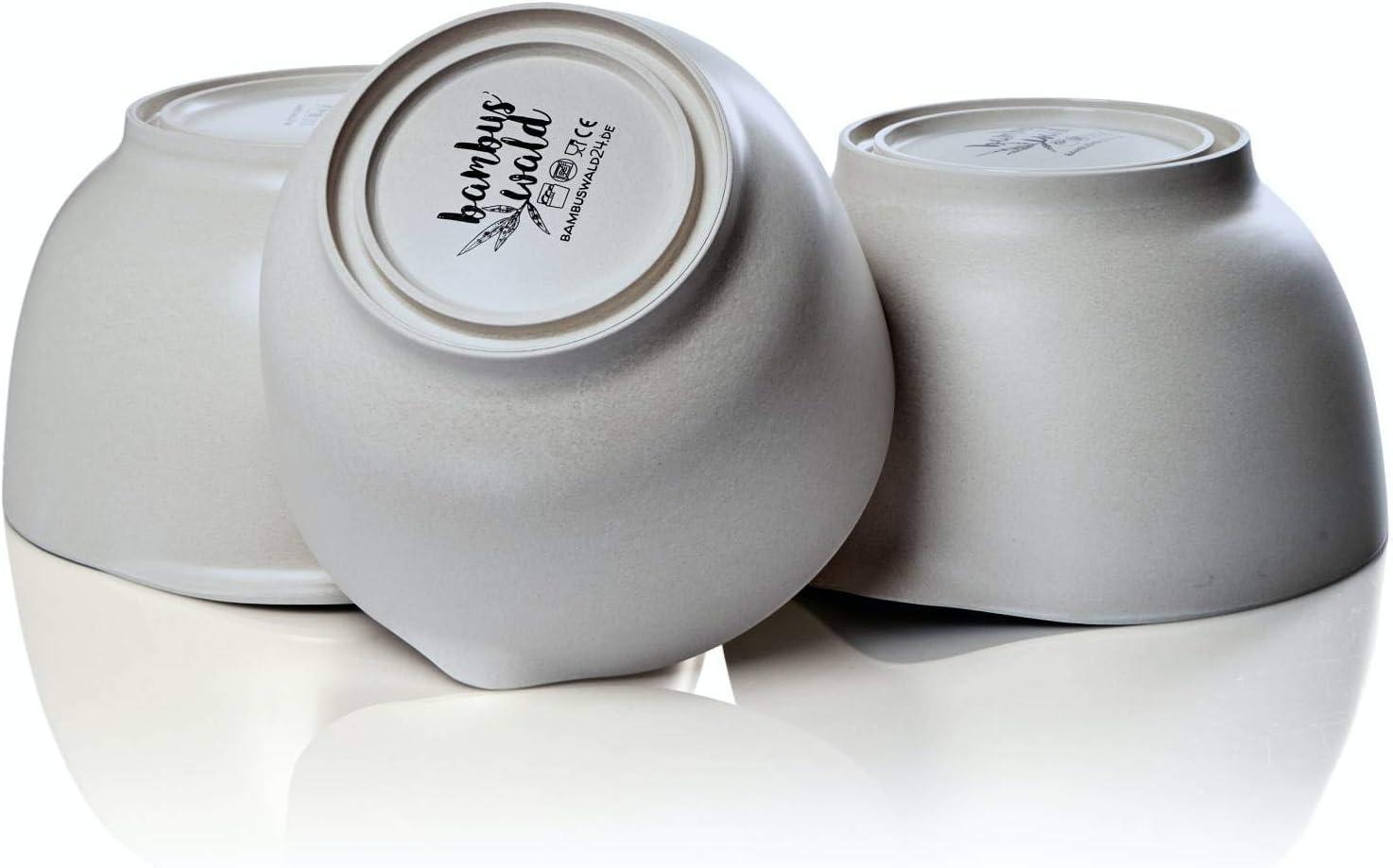Cul de Poule Lavable au Lave-vaisselle Bol avec Manche bambuswald/© 3x Saladier Bec Verseur Noir Accessoire de Patisserie 3,2L en Bambou 2,7L Ustensiles de Cuisine 3 Tailles 2L