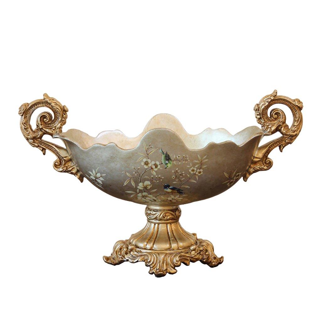 フルーツバスケットリビングルーム樹脂ハイフィートオーバルフルーツプレート乾燥フルーツプレート装飾装飾品(47 * 22 * 29CM)   B07F8VQZ14