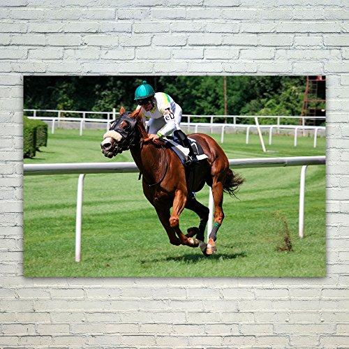 Westlake Art - Poster Print Wall Art - Horse Jockey - Modern Picture Photography Home Decor Office Birthday Gift - Unframed - 18x12in (*d9-e62-200)