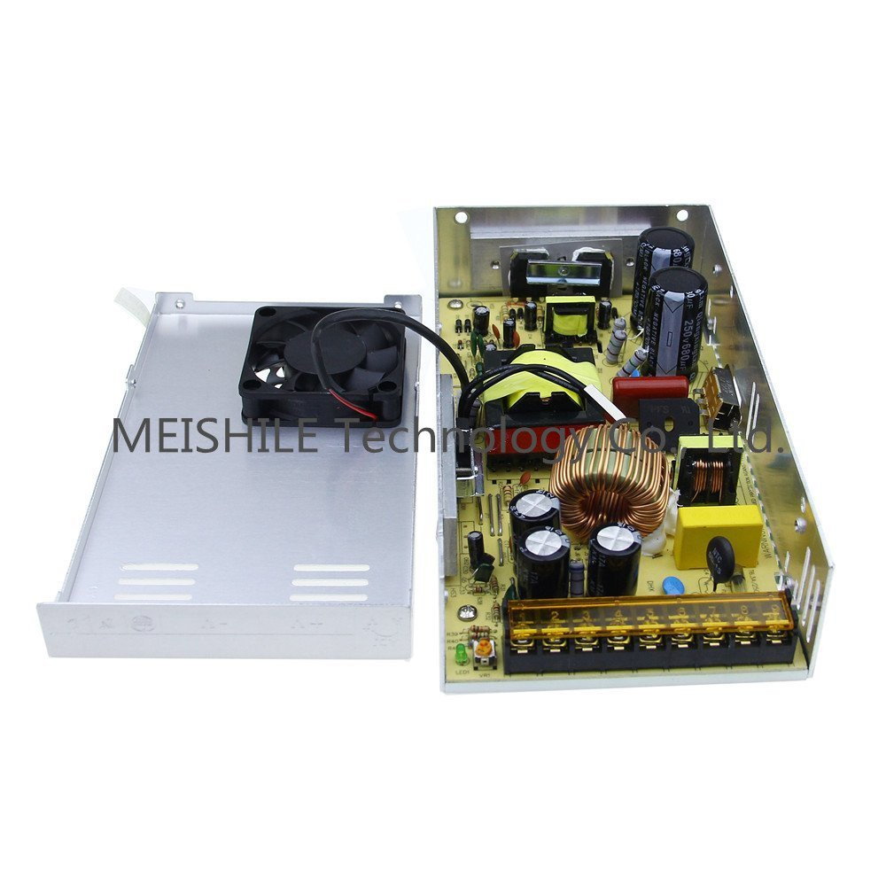 MEISHILE 24V 25A 600W LED Driver Switching Power Supply 110//220VAC-DC24V Transformer Monitoring Power Supply Industrial Power Universal Electric Machinery CCTV(SMPS) 600 Watts