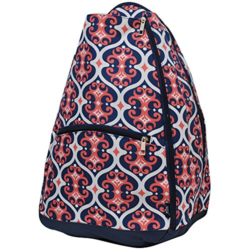N.Gil Geometric Themed Prints NGIL Tennis Racquet Holder Backpack – DiZiSports Store