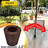 MYARD Umbrella Cone Wedge for Patio Table Hole Opening 1.8 to 2.4 Inch, Umbrella Pole Diameter 1 1/2 (38mm), Dark Brown