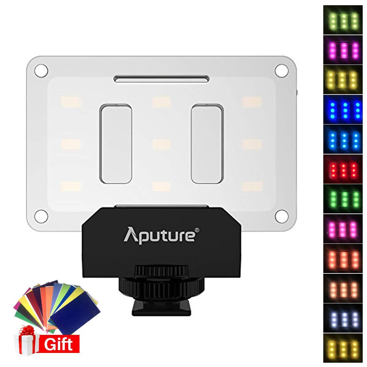Aputure AL-M9 w Free 12 Transparent Color Filter, Amaran LED Mini Light on Camera Video Light by Aputure