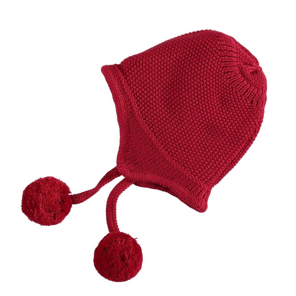 Emile-et-rose Emile-et-Rose True Knit Winter Hat in Pink,Navy,Cream & Red Cream & Red 1 Month Blue
