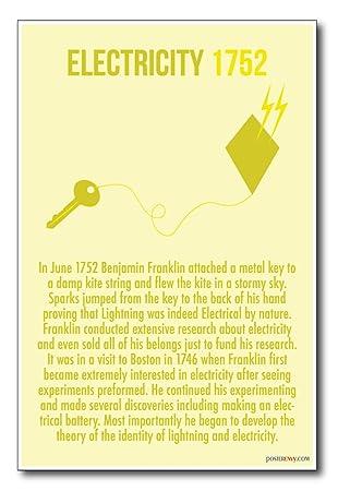 Amazon.com: Electricidad – Ben Franklin – 1752 – Nueva aula ...