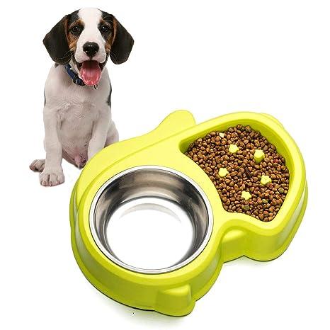 LA VIE Hianiquaime® Comedero Doble para Perro Gato Despacio a Comer Anti-Asfixia Interactivo
