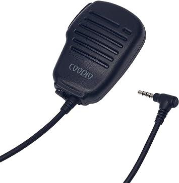 Coodio Yaesu Radio Micrófono RainProof Micro Altavoz Auriculares [3,5mm Auricular Plug] Policía Microfono Seguridad y Bodyguard Para Yaesu FT-60E, ...