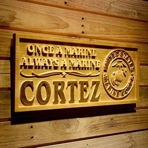ADVPRO wpa0345 Name Personalized United States Marine Corps Gifts Wood Engraved Wooden Sign - Medium 18.25