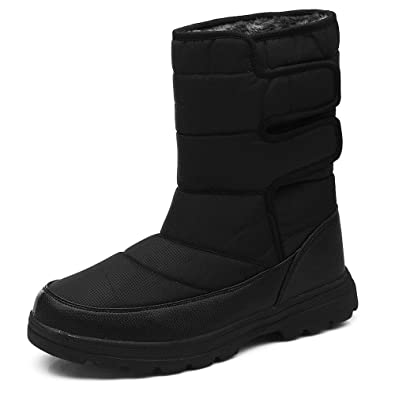 6652538da75 AIRIKE Mens Snow Boots Waterproof Winter Warm Shoes Anti Slip Insulated Fur  Lining