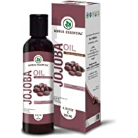 Korus Essential 100% Pure & Natural Cold Pressed Jojoba Oil, 200ml | For Balancing Oily Skin, Natural Makeup Remover, Hair Vitalizer, Natural Lip Balm
