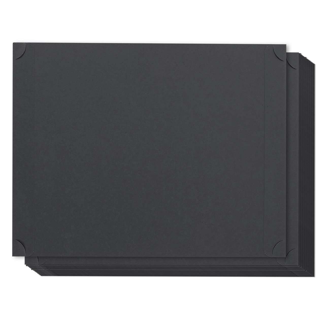 24-Pack Certificate Holder - Diploma Holder, Single Sided Holder for Letter-Sized Award Certificates and Documents Display, Black, 11.2 x 8.8 inches
