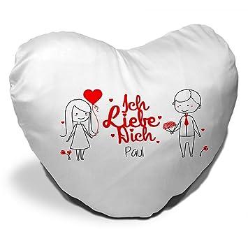 Herz Kissen Mit Namen Paul Und Spruch Ich Liebe Dich Mit