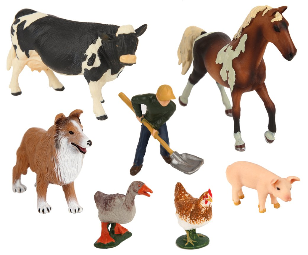 Ericoo High Simulation Farm Animals Toys Sets Educational Resource High Simulation Farm Animals Toys CPC Approval ASTM Test-Anim003