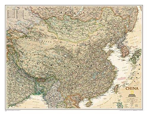 China Executive Wall Map Material  Paper