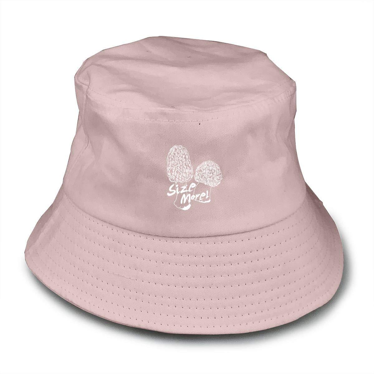 PPAN Size Morel Unisex Cotton Packable Black Travel Bucket Hat Fishing Cap