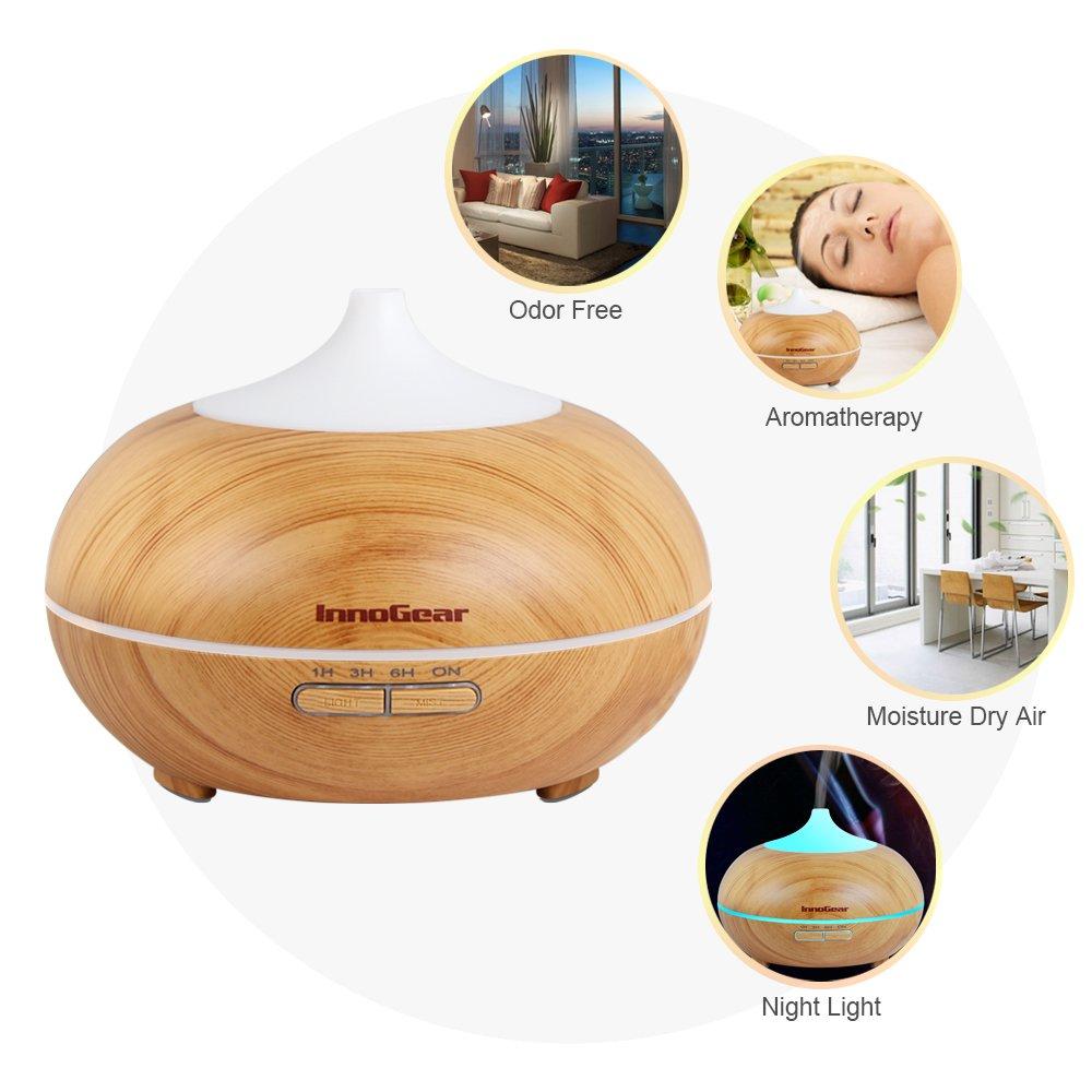 Innogear 500ml Aromatherapy Essential Oil Diffuser Wood