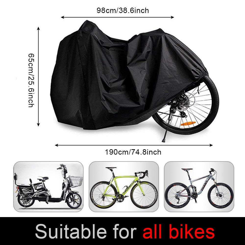Nieoqar Bike Cover Waterproof Bicycle Cover 210T Outdoor Anti Dust Rain UV Protection Bike Rain Cover for Mountain Bike//Road Bike with Storage Bag