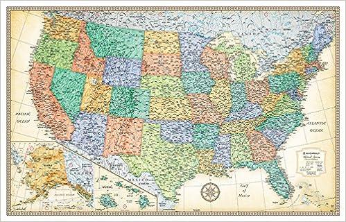 Rand mcnally classic united states wall map rand mcnally rand mcnally classic united states wall map rand mcnally 9780528012785 amazon books gumiabroncs Choice Image