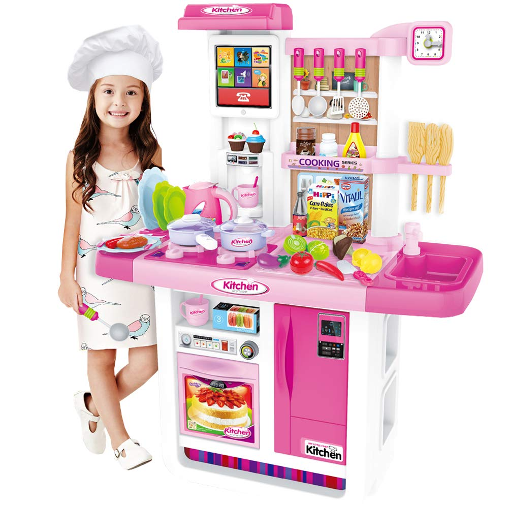 Water Features /&  Accessories deAO My Little Chef Kitchen Play Set with Panel
