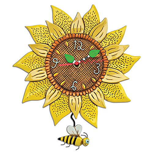Allen Designs Bee Sunny Sunflower Wall Clock