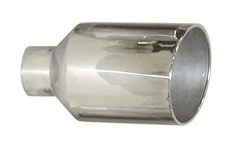 """5/"""" inlet 10/"""" outlet 18/"""" Long Polished Stainless Steel Diesel Exhaust Tip Pipe"""