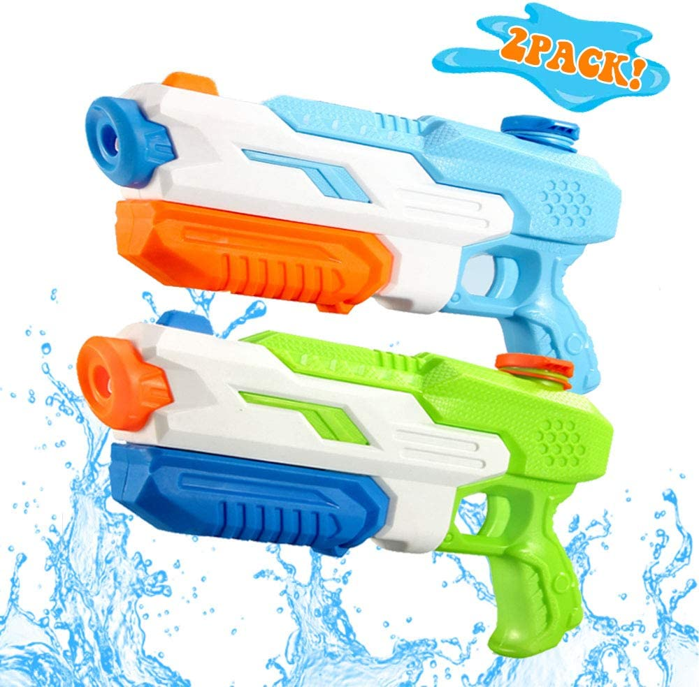 ANDSTON Water Guns for Kids Adults, 2 Pack Super Squirt Guns, 600CC Water Soaker Blasters Long Range Water Gun Toy for Boys Summer Swimming Pool Beach Sand Water Fighting