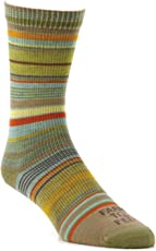 Farm to Feet Ithaca Multi-Stripe Ultralight Crew Socks