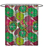 Hot Pink and Lime Green Shower Curtain Starodet Floral Shower Curtains with Shower Hooks Tropical Blossom Caribbean in Exotic Tones Hyacinth Hippie Print Satin Fabric Bathroom Washable W60 x L72 Jade and Lime Green Hot Pink