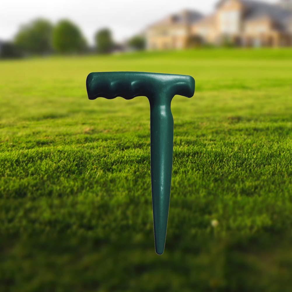 GEZICHTA Plastique de comprim/és poign/ée Pistolet en Plastique Solide Jardin Plantoir /à bulbe semis Outils de Jardinage/ /Simple et Facile dutilisation Vert arm/ée