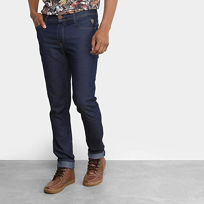 b538aad22 Calça Jeans Reta Cavalera Básica Masculina - Azul Escuro - 36 ...