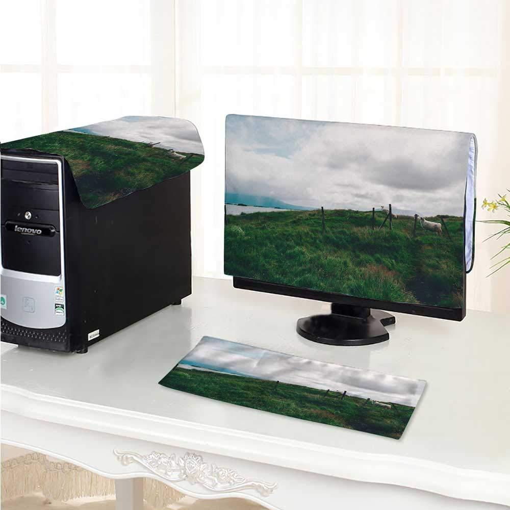Philiphome フラットスクリーンプロテクター 3ピース スパイダーウェブ 帯電防止 ビニール/17インチ W18