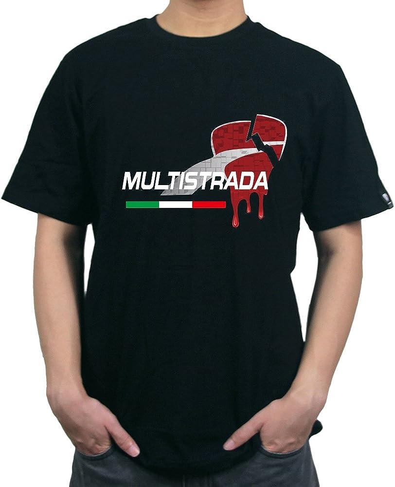 PRO-KODASKIN Motorcycle Style 100/% Cotton Casual Short Sleeve O-Neck T Shirt for Ducati MULTISTRADA 1200