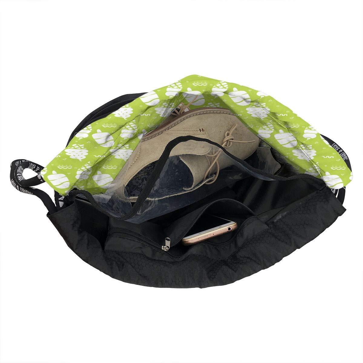 HUOPR5Q Yellow Colorful Cute Funny Pineapple Drawstring Backpack Sport Gym Sack Shoulder Bulk Bag Dance Bag for School Travel