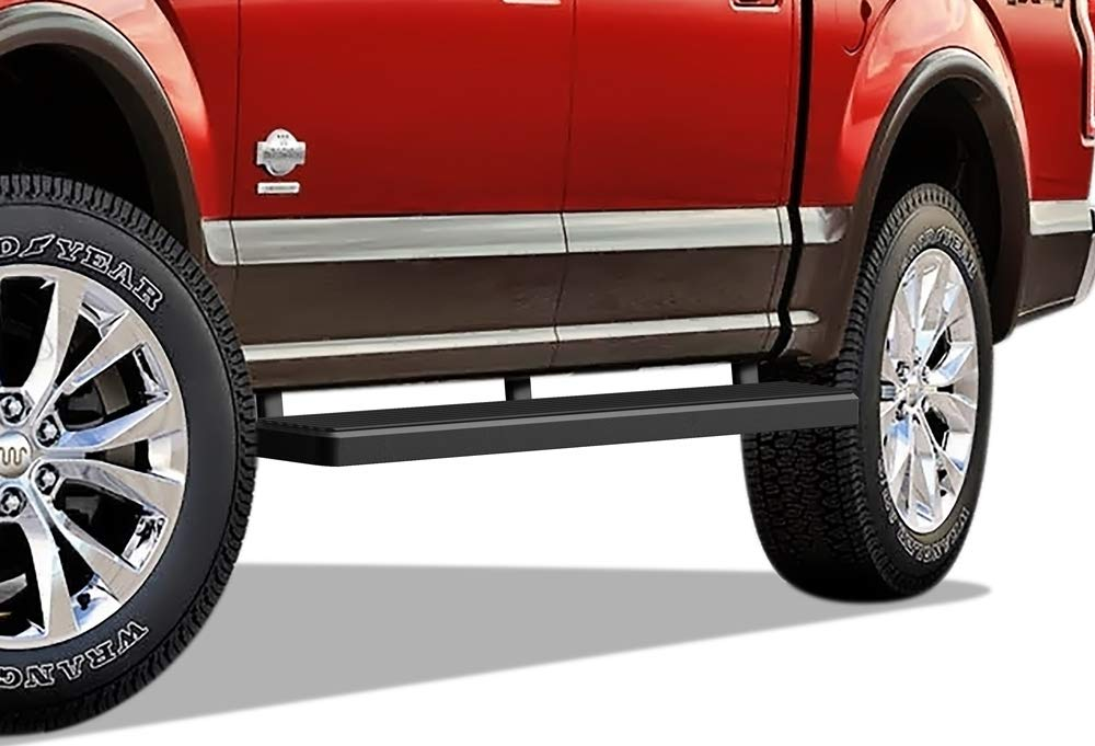 iBoard (Black 5 inches) 304 Stainless Steel Running Boards | Nerf Bars | Side Steps | Step Rails Compatible with 2015-2019 Ford F150 SuperCrew Cab Pickup 4-Door / 2017-2019 Ford F-250/F-350 Super Duty