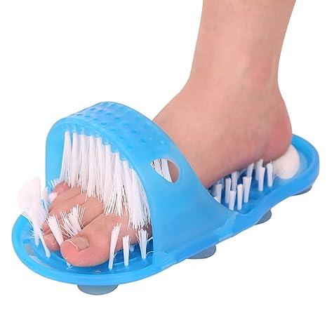 Designerbox ducha para pies sin tener que arquear la espalda, cepillo para limpiar los pies