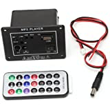 GROOMY 20W High Power DC 12V Bluetooth Car Subwoofer Hi-Fi Amplifier Board TF USB+Remote