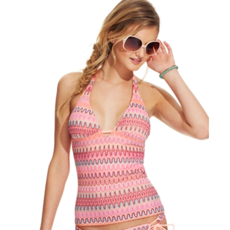 563f796089 Hobie Printed Crochet Halter Tankini Top Women's Swimsuit m multi hot sale  2017